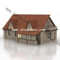 场景木屋3d模型下载