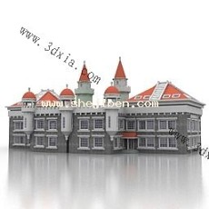 欧式城堡3d模型下载