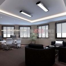 老总办公室天花板3d模型下载