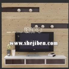 电视柜组合3d模型下载