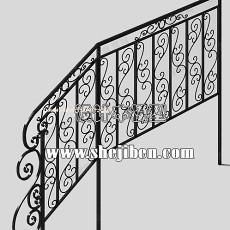 楼梯栏杆扶手3d模型下载