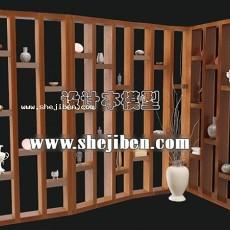 中式工艺架3d模型下载