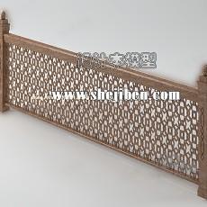 栏杆3d模型下载