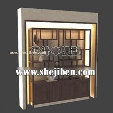 柜架3d模型下载