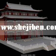 古建筑场景3d模型下载