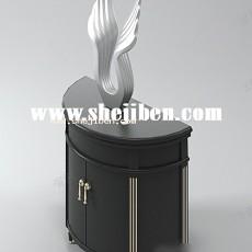 边柜装饰柜3d模型下载