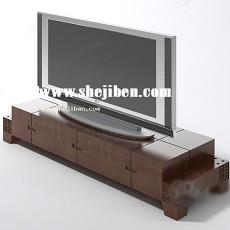 中式电视柜装饰3d模型下载