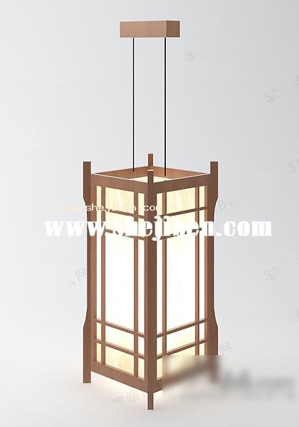 吊灯模型下载_日式吊灯3d模型下载-设计本3D模型下载