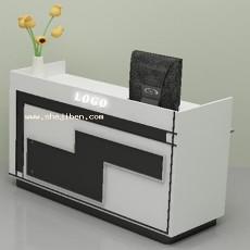 带电脑收银台3d模型下载