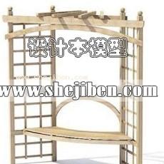 室外椅子3d模型下载