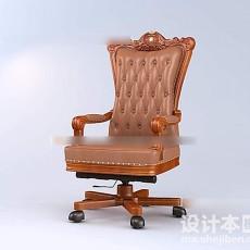 美工家具老板椅3d模型下载