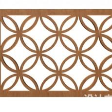 中式木雕花片3d模型下载