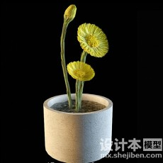 盆栽5173d模型下载