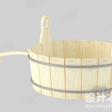 木桶3d模型下载