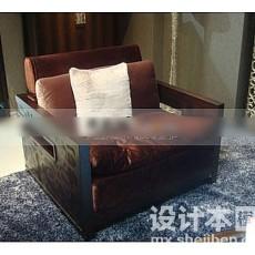 纯中式沙发3d模型下载