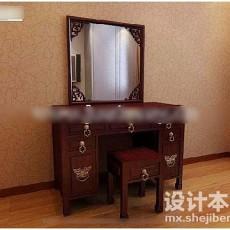 中式梳妆台3d模型下载
