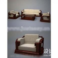 古典中式沙发3d模型下载