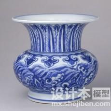 青花瓷器花瓶3d模型下载