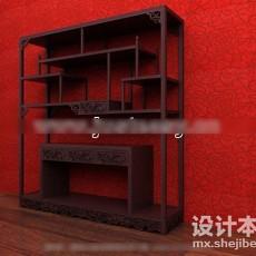 中式博古架3d模型下载