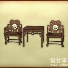 古典家具组合3d模型下载