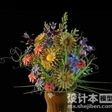 室内植物盆栽3d模型下载