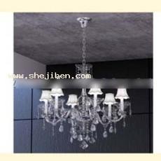 室内欧式灯3d模型下载