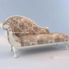 欧式躺椅3d模型下载