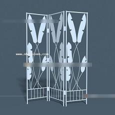 树枝屏风3d模型下载