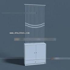 玄关端景台3d模型下载