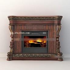 欧式壁炉3d模型下载