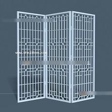 屏风隔断3d模型下载