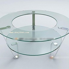 玻璃圆桌3d模型下载
