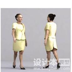 服装店模特3d模型下载