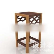 木制花架3d模型下载