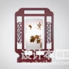 中式古典灯3d模型下载