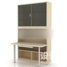 办公柜3d模型下载
