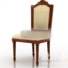 火锅店椅子3d模型下载