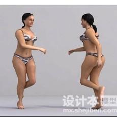 女性模特3d模型下载