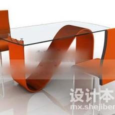 两人餐桌3d模型下载