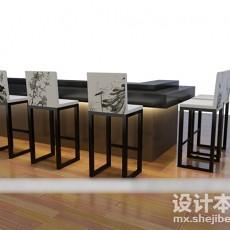 餐饮吧台3d模型下载