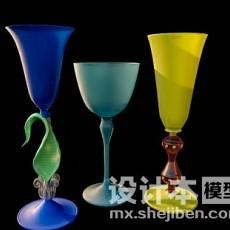 高脚酒杯3d模型下载