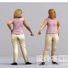 女性3d模型下载