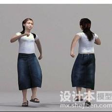长发美女3d模型下载