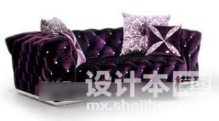 餐厅软包沙发3d模型下载