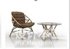 户外沙发3d模型下载