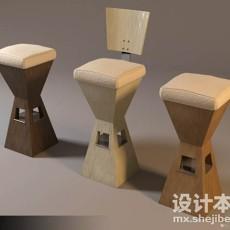吧台椅3d模型下载