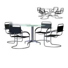 桌椅组合3d模型下载