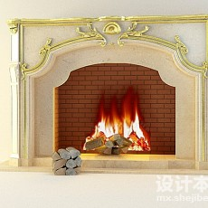 壁炉3d模型下载