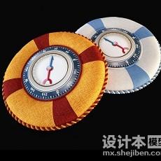 指南针创意抱枕3d模型下载