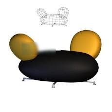 沙发凳子3d模型下载